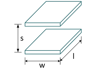 Rectangular Parallel Place Capacitance