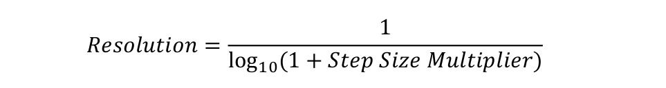 Formula to convert from MIL-STD-461F Step Size to EMI AnalystTM Resolution
